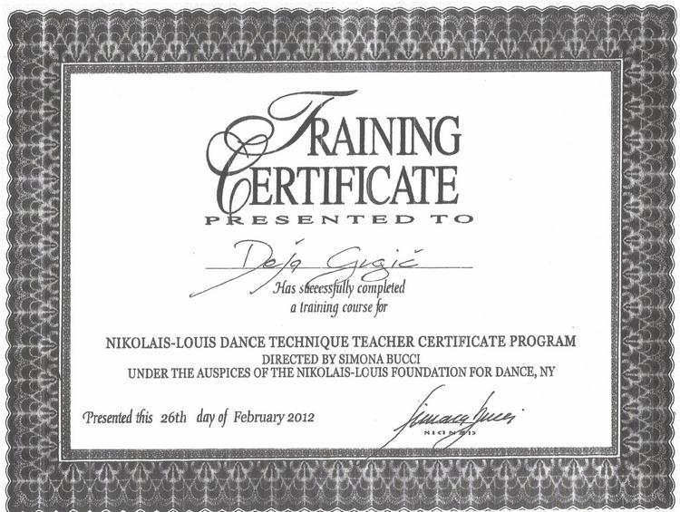 Diploma Tecnica Nikolais